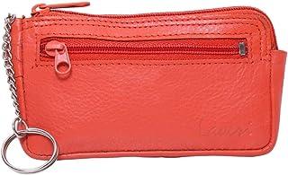 Laveri Small Wallet for Unisex - Leather, Orange