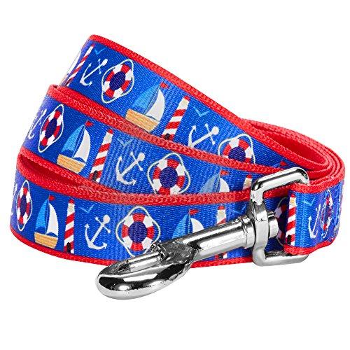 Blueberry Pet 1,5 cm by 150 cm Länge Peace Bon Voyage Maritimer Blauer Traum Designer Hundeleine, Passendes Halsband und Geschirr Separat Erhältlich