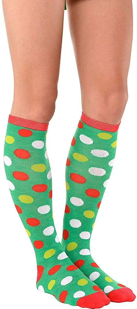 Colorado Springs Mall HollyDel Christmas Direct sale of manufacturer Socks and Scarves; Polka Dot Adult