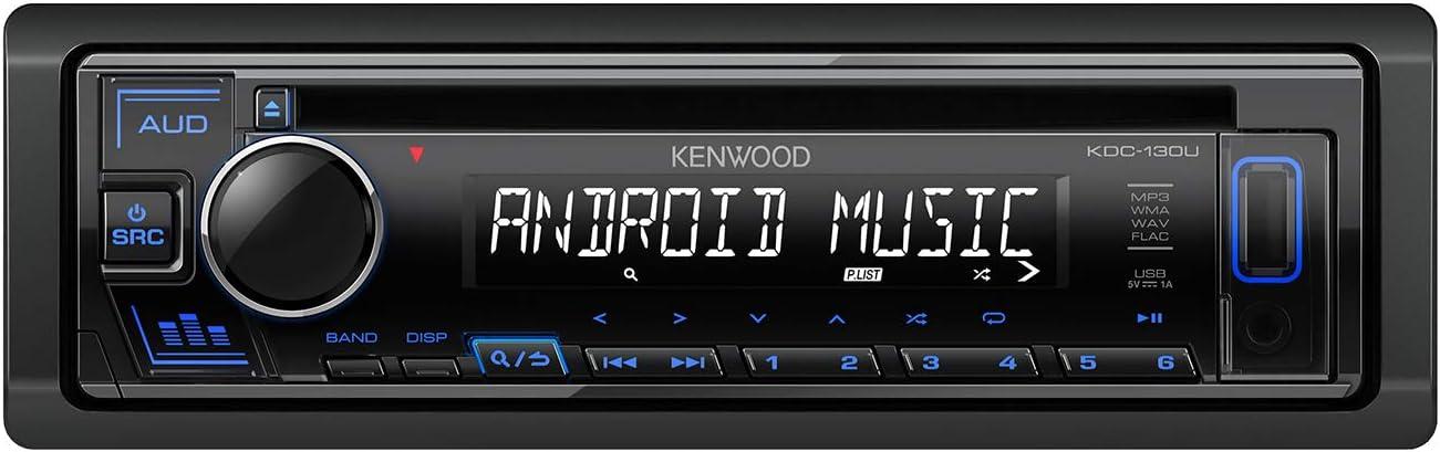 Kenwood Kdc 130ur Cd Autoradio Mit Rds Hochleistungstuner Usb Aux Eingang Android Control Bass Boost 4x50 Watt Rot Schwarz Elektronik
