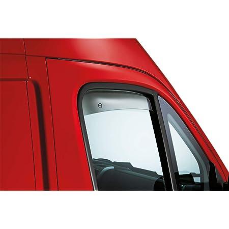 PEUGEOT BOXER OEMM Set di 2 deflettori daria tipo IN-CHANNEL compatibile con CITROEN RELAY JUMPER modelli dal 2006 al 2020 in vetro acrilico FIAT DUCATO