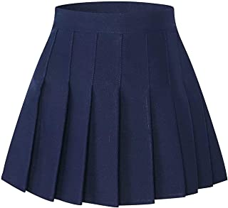 SANGTREE Pleated Skirt with Comfy Stretchy Band for Women & Girls, 2 Years - Adult XXL
