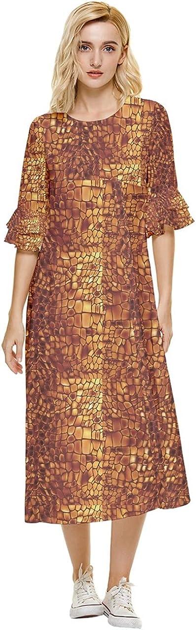 PattyCandy Womens Flowy 新品■送料無料■ Party Dress Floral 中古 Double Pattern Animal