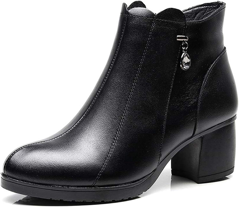 MaxTide Womens Round Toe Platform High Chunky Heels Knee High Knight Boots