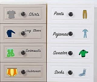 Easma Boy Decals Dresser Clothing Decals Labels Dresser Labels Kids Drawer Stickers Organizing Decals