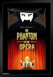 Pyramid America The Phantom of The Opera Gaston Leroux Black Wood Framed Art Poster 14x20