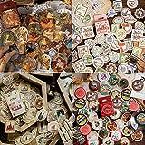 4 cajas Pegatinas, Vintage Stickers Etiqueta retro, etiqueta para DIY Manualidades Decoración...