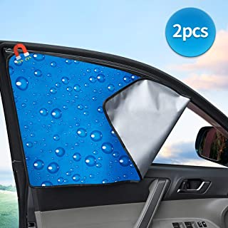 Car Side Window Sun Shade Retractable Auto Sunvisor Windshield Cover Reflectix Sunshades Inside Car Curtains Seat Baby Sun Protection Block Damage From UV Rays Sunlight And Heat Rear Side 2pcs