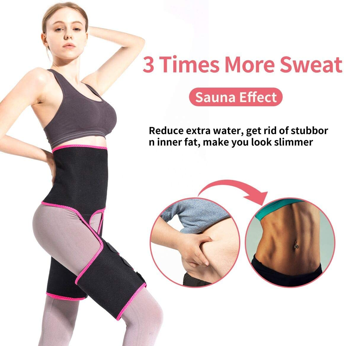 oscaurt Waist Trainer for Women Plus Size Full Body Waste Trainers for Women,3 in 1 High Waist Thigh Trimmer for Women Weight Loss