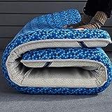 LoveHouse, materasso pieghevole per dormire, in lattice tailandese, materasso tradizionale giapponese futon, tappetino pieghevole Tatami – blu 120 x 200 cm