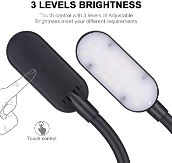 harmiey Sewing Machine Light,LED Work Light 30 LED with Touch Control with Lengthen Flexible Silone Coating Gooseneck...