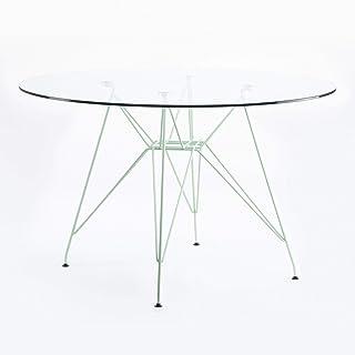 Table Verre Eiffel 120cm céladon