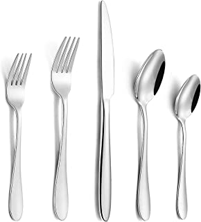 20-Piece Silverware Set, Wildone Stainless Steel Flatware Set Service for 4, Tableware Cutlery Set for Home Kitchen Hotel Restaurant, Mirror Polished, Dishwasher Safe