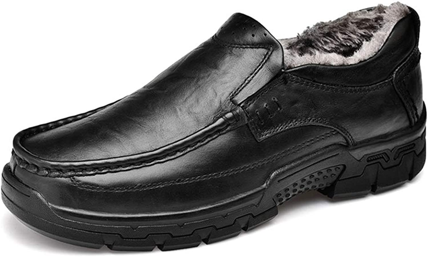 Phil Betty Mens Loafers shoes Warm Non-Slip Wear-Resistant Comfortable Flat Casual shoes