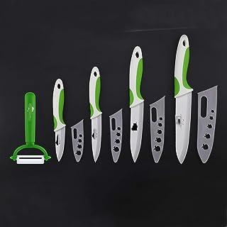 """Couteau de cuisine mis en céramique Couteau 3"""" 4"""" 5"""" 6"""" inch Eplucheur Couvre ensemble de couteau de fruits à éplucher bou..."""
