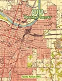 2019 Weekly Planner: Topeka, Kansas (1951): Vintage Topo Map Cover