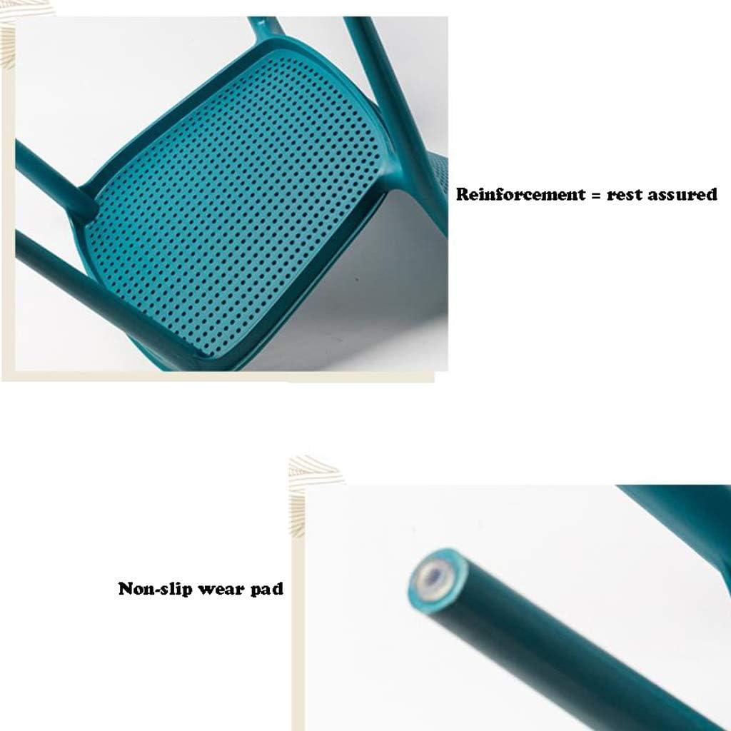 Simple Chaise Bureau étudiant et Chaise de Maquillage Tabouret Retour à la Maison à Manger Chaise d'ordinateur Unique (Color : White) White