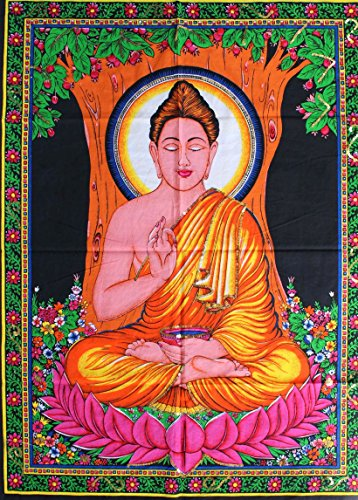 Huge Cotton Fabric BUDDHA 43' X 30' Tapestry