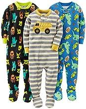 Simple Joys by Carter's pijama de algodón para bebés y niños pequeños, 3 unidades ,Monsters/Dino/Construction ,18 Meses