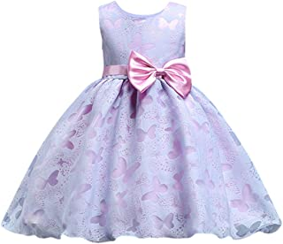 ?? Mealeaf ?? Flower Baby Girl Princess Bridesmaid Pageant Gown Birthday Party Wedding Dress(2t-7t)