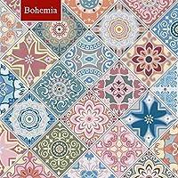ウォールステッカーステッカー壁紙 キッチンオイルプルーフステッカー高温クックトップ自己接着タイルキャビネットカウンターレンジフード壁ステッカー壁紙 (Color : Bohemia, Dimensions : 2mx60cm)
