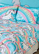 SOLD OUT JUSTICE TWIN BED IN A BAG COMFORTER SET PINK TEAL SPARKLE UNICORN BLING GIRLS SHOP JUSTICE