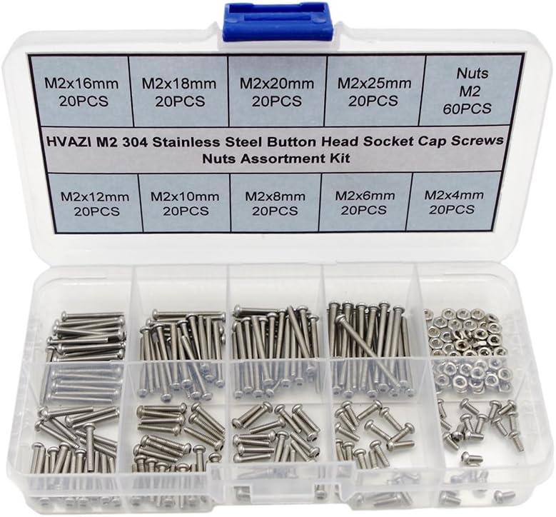 HVAZI Albuquerque Mall Metric M2 Stainless Steel Button Head Socket Nu Cap Screws ! Super beauty product restock quality top!