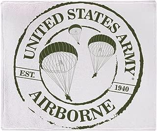 CafePress Army Airborne Soft Fleece Throw Blanket, 50