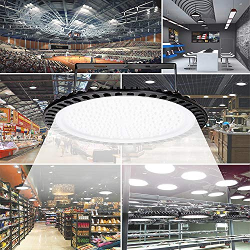 10pcs 500W UFO LED High Bay Light 40000LM 6000-6500K Daylight White IP65 Waterproof Warehouse Lamp Garage Ceiling Lights Commercial Bay Lighting for Workshop Factory Garage Gym 3