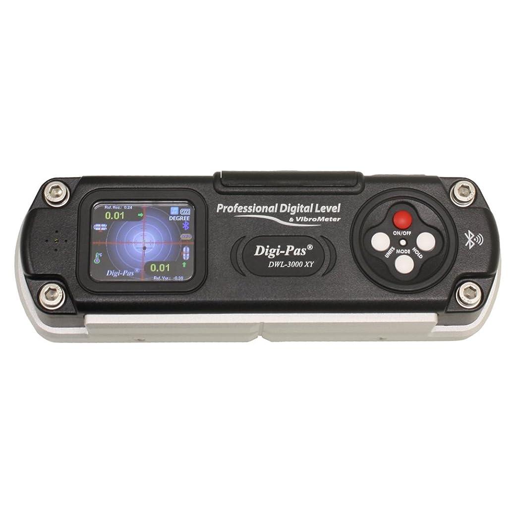 ジャグリング引き付ける解くDigi-Pas 2軸 高精度デジタル水準器 水平器 角度計 傾斜計 DWL3000XY Bluetooth 0.01度