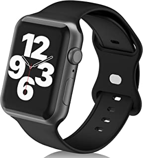 Smartwatch Bands Compatible with Apple Watch Band 40mm 41mm 38mm for Women Men Girls,Soft Silicone Sport Replacement Strap for iWatch Series 6 5 4 3 2 1 SE Wristbands
