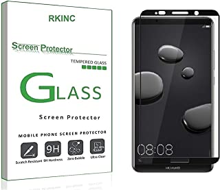 RKINC for Huawei Mate 10 Pro Screen Protector, [1 Pack] Full Coverage Tempered Glass Clear Screen Protector [9H Hardness][3D Round Edge][0.33mm Thickness] for Huawei Mate 10 Pro, Black