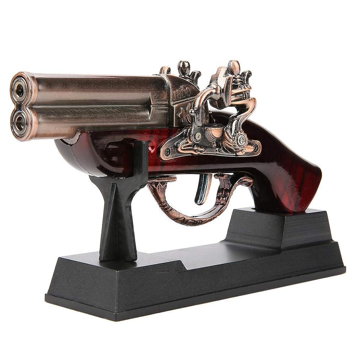 いわゆる看板月面Qiilu 銃の形 ガスライター ターボライター ガスなし 防風 充填式 DH1800