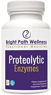Proteolytic Enzymes - 100 Vegetable Capsules | Systemic Enzyme Formula | Inflammation Support | Anti-Inflammatory | Non-GM...