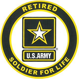 Honor Country US Army Soldier for Life Logo Retired Decal Sticker