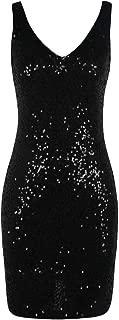 Women's Sequin Cocktail Dress Sparkly V Neck Bodycon Party Dress Club Nightout