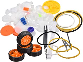 uxcell 78 Pcs Plastic Gear Package Kit DIY Gear Assortment accessories set for Toy Motor Car Robot Various Gear Axle Belt Bushings