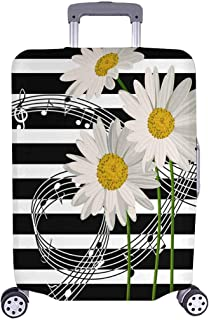 FOLPPLY Musical Piano Notes Pattern Luggage Cover Baggage Suitcase Travel Protector Fit for 18-32 Inch
