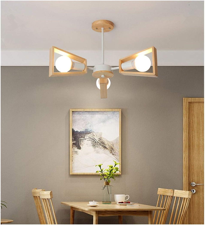 MWG Plafond avec Lampe, luminaire de décoration de Restaurant, plafonniers en rondins, lustres géométriques, Couleur Bois, 3 lumière   5 lumière   6 lumière   8 lumière (Couleur   3 lumière)