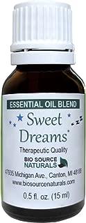 Sweet Dreams Essential Oil Blend 0.5 fl oz / 15 ml with Essential Plant Oils of Nutmeg, Jasmine, Lavender, Rose, Roman Chamomile, Vanilla