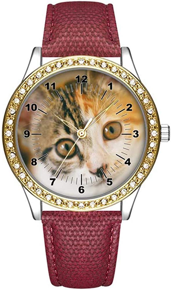 Diamond Womens Leather Watch Fashion Casual Attention brand Wom Watches Gold sold out for