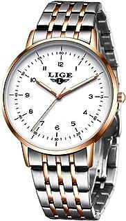 Men's Watch Fashion Wristwatch Steel Watch Dress Luxury Brand LIGE Waterproof Wristwatch Analog Quartz Business Sports Wat...