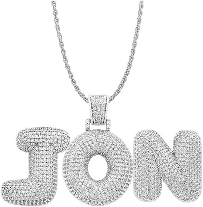 Ranking TOP4 Antybaby Hip Hop Rapper Pendant Necklace Bling Out Safety and trust Iced Chains f