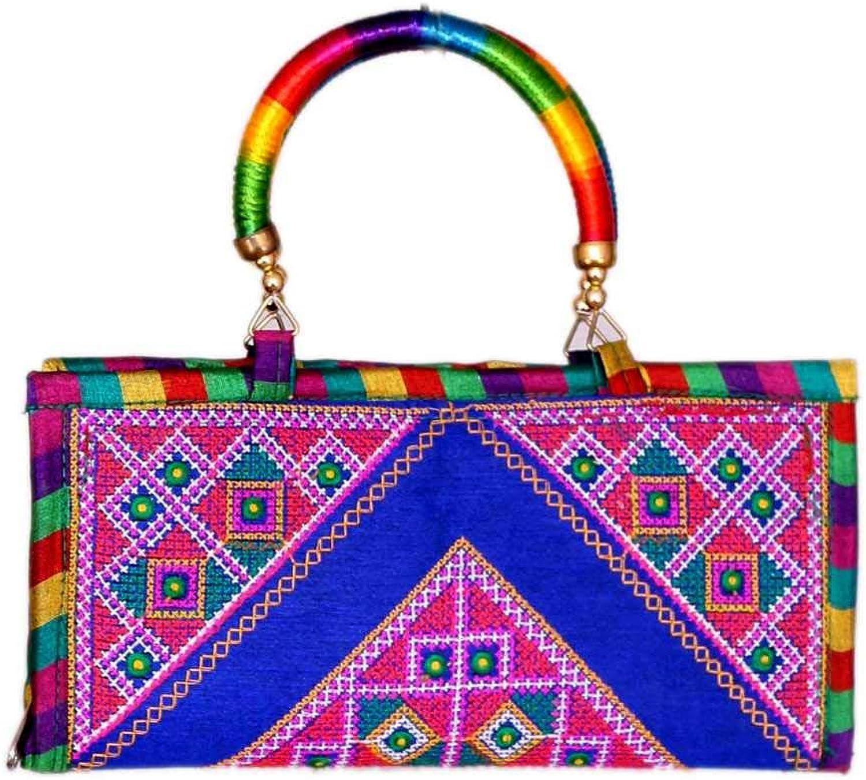 Panchal Creation Wholesale 50 pc lot Bulk Indian Vintage Hand Bag Traditional Bridal Clutch Beaded Shoulder Bag potli Pouch Hand Bag Purses Women Purse by Craft Place M -63