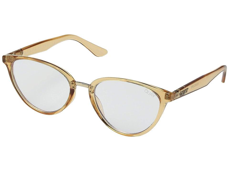 QUAY AUSTRALIA Rumors Blue Light Glasses (Champagne/Clear Blue Light) Fashion Sunglasses