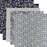 5 piezas de 50 x 50 cm, diseño sin repetición de 100 paquetes de tela de algodón precortado para costura de manualidades, patchwork (serie de impresión rosa)