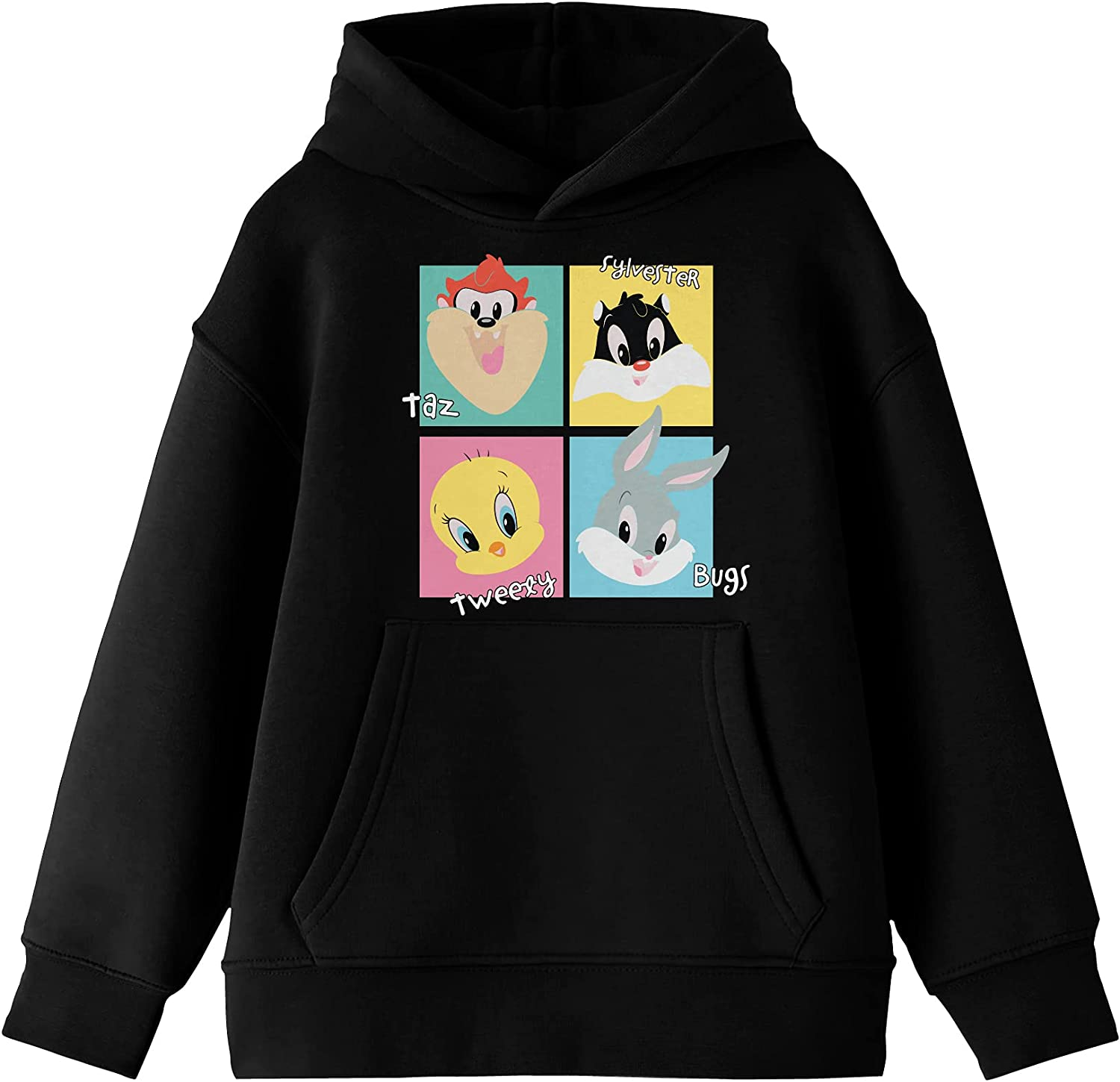 Youth Special sale item Boys Ultra-Cheap Deals Looney Tunes Chibi Hoode Block Black Color Characters