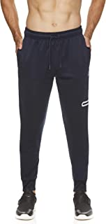 Men's Jogger Running Pants with Zipper Pockets - Athletic Workout Training & Gym Sweatpants