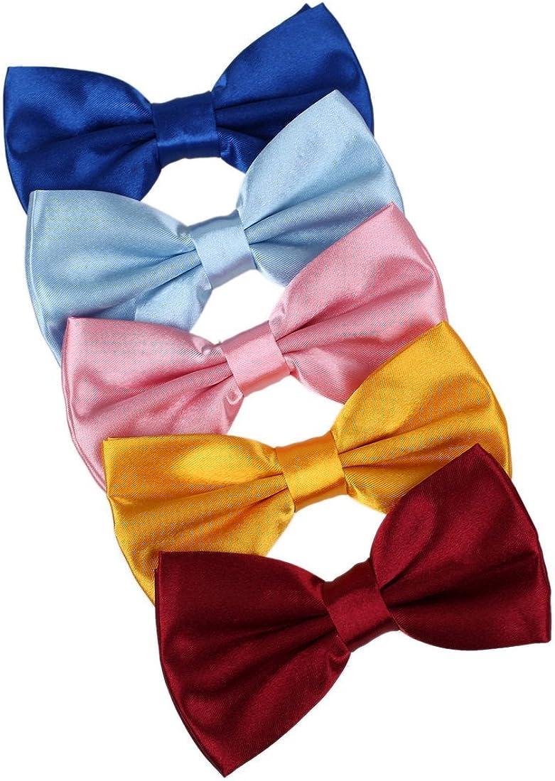 Dan Smith Men's Fashion Multi-colors Poly Pre-Tied Bowtie With Box