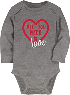 Tstars - Gift for Valentine's Day All You Need is Love Baby Long Sleeve Bodysuit